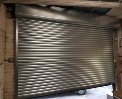 Galvanized Electric Roller Shutter Fitted in Manchester