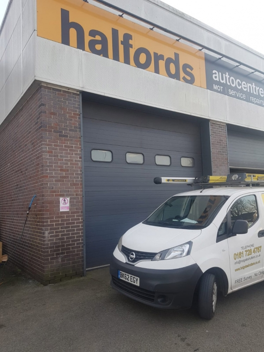 sectional doors repaired Halfords Manchester