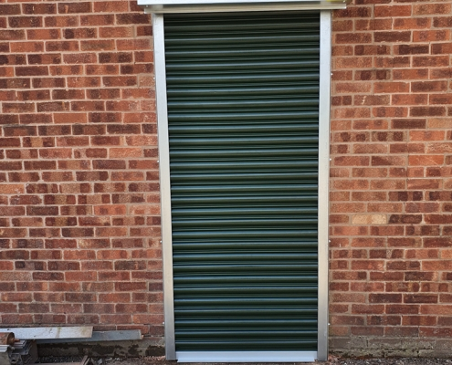 green anthracite roller shutters